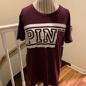 Victoria's Secret pink T-shirt size large